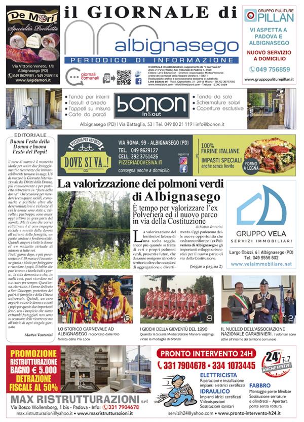 Giornale di Albignasego marzo 2021