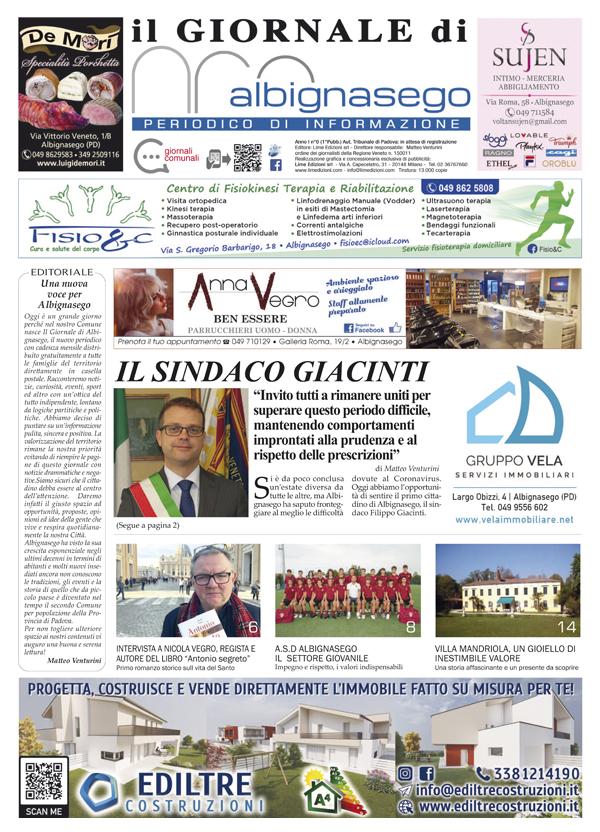 Giornale di Albignasego novembre 2020