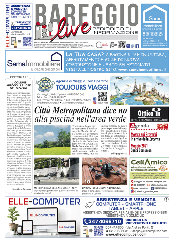Giornale Bareggio Live aprile 2021