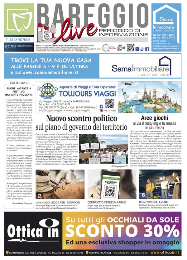 Giornale Bareggio Live luglio 2021