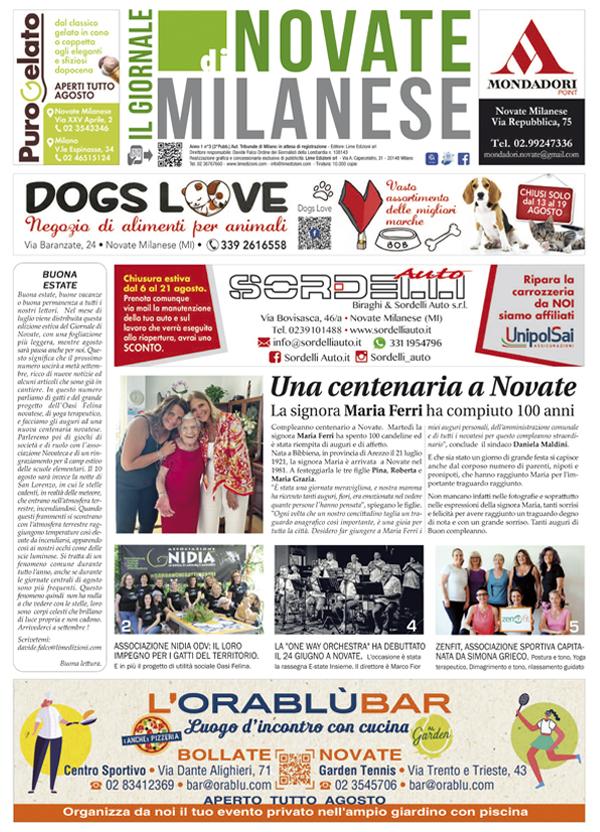 il Giornale di Novate Milanese agosto 2021