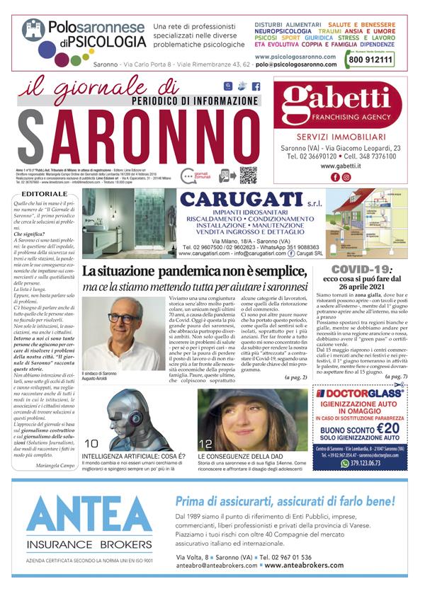 il Giornale di Saronno maggio 2021