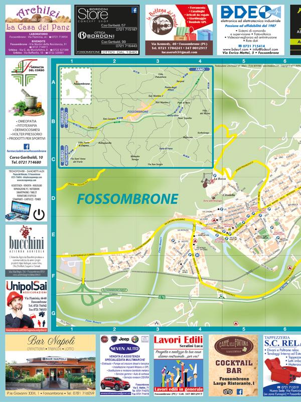 Fossombrone Cartina Turistica Pieghevole