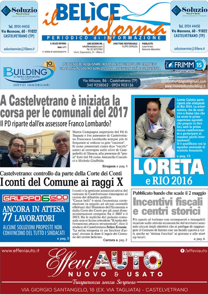 Il Belice Informa Aprile 2016