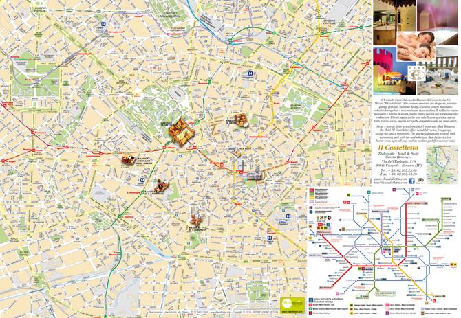 Mappa personalizzata di Milano per Hotel Il Castelletto di Binasco