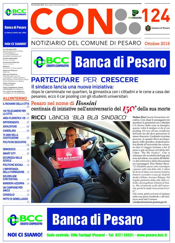 CON Notiziario del Comune di Pesaro ottobre 2018