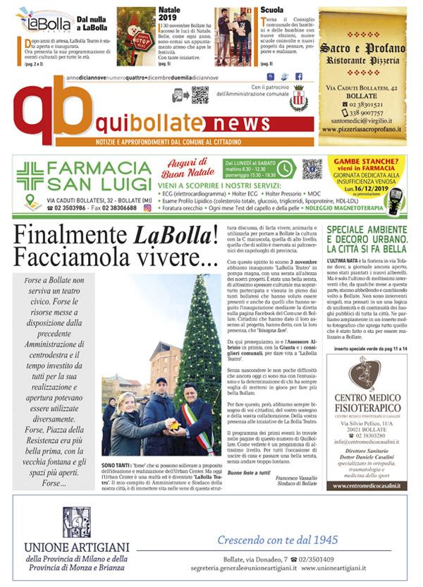 QuiBollateNews di dicembre 2019