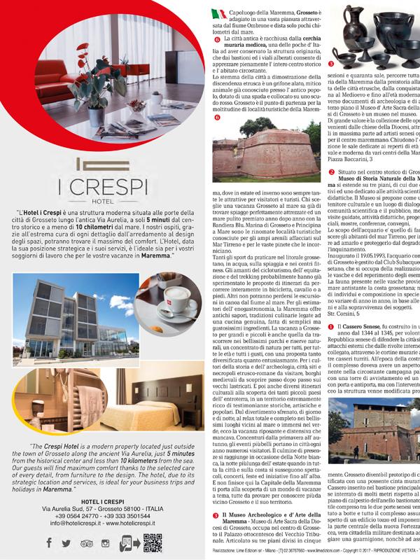 Grosseto Hotel I Crespi Mappa Turistica Personalizzata