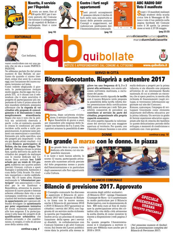 Qui Bollate Marzo 2017